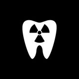 X-ray tooth solid icon Stock Image