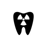 X-ray tooth solid icon. Dental and medicine, radiation sign vector graphics, a filled pattern on a white background, eps 10 Stock Image