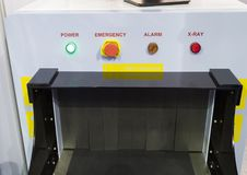 X-ray unit for airport. Control panel Stock Photos