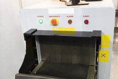 X-ray unit for airport. Control panel Royalty Free Stock Photo