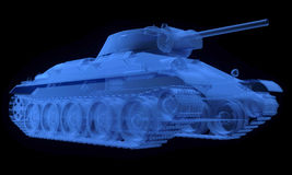 X-ray version of soviet t34 tank Stock Photography