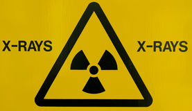 X-ray warning sign. Close up of an x-ray warning sign Royalty Free Stock Images