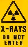 X-ray warning sign Royalty Free Stock Photo
