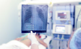 X-rays in the ICU. Stock Photo