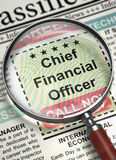 We& x27;re Hiring Chief Financial Officer. 3D. Stock Images