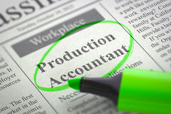 We're Hiring Production Accountant. 3D. Royalty Free Stock Photos