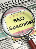 We're Hiring SEO Specialist. 3D. Stock Images