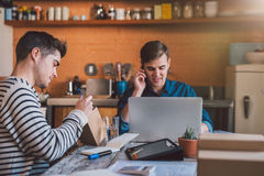 They're home based business is booming Stock Image
