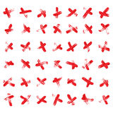 X Red Marks Set Vector. X Cross Sign. Crossed Vector Brush Strokes Isolated Illustration. royalty free illustration