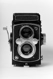 6x6 retro camera front elevation Royalty Free Stock Images
