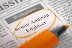 We& x27; ri ingegnere senior di noleggio di Android 3d Immagine Stock Libera da Diritti