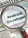 We& x27; ri sviluppatore di noleggio di Android 3d Immagini Stock Libere da Diritti