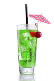X rocks Cocktail with Cherry and Umbrella Stock Photo