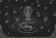 It& x27; s咖啡时间 库存图片