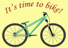 It& x27; s时间骑自行车 有文本的被隔绝的自行车 免版税库存图片