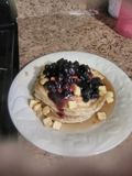 That& x27; s machte ich dieses französische Pfannkuchen lizenzfreies stockfoto