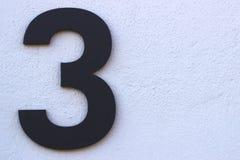 It& x27 ; s numéro trois image stock