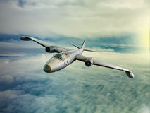 1960's style medium sized jet bomber. At high altitude. Used by Australia and USA in the Vietnam War and elsewhere. (computer illustration Royalty Free Stock Photography