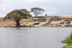 4x4 safari samochody parkujący zdjęcia stock