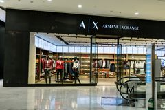 A|X scambio di Armani a Emquartier Tailandia, il 3 settembre 2017 Immagini Stock