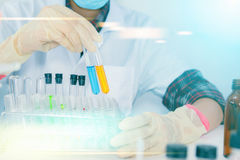 (SCIENCE) Scientist is certain activities on experimental scienc Stock Photography