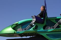 X-Scream ride at the Stratosphere Tower in Las Vegas, Nevada.  Royalty Free Stock Photography