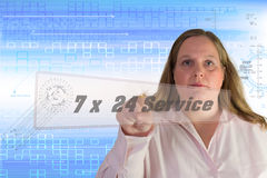 7x 24 Service Royalty Free Stock Image