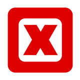 X sign red Stock Photo