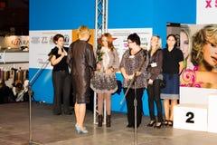 X SLASKI FESTIWAL FRYZJERSKO-KOSMETYCZNY Katowice Royalty Free Stock Photo