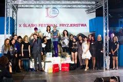 X SLASKI FESTIWAL FRYZJERSKO-KOSMETYCZNY Katowice Royalty Free Stock Images