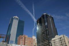 X sobre Kansas City Imagens de Stock