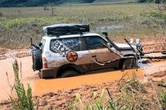 4x4 som kör till och med lynne i Venezuela Royaltyfria Foton