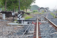 & x27; Spoorweg switch& x27; royalty-vrije stock foto