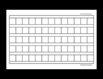 15x6 Squared manuscript paper. Vector stock illustration royalty free illustration