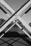 X steel frame outdoor object Royalty Free Stock Images