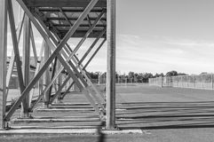 X steel frame outdoor object Royalty Free Stock Image