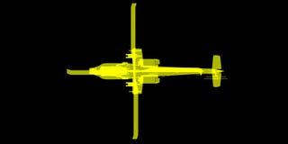 X- Strahl oder Röntgenstrahlbild von Apache-Hubschrauber Lizenzfreie Stockfotografie