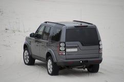 4x4 SUV в белом песке Стоковое Изображение