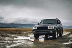 4x4 suv in Mongolia offroad steppe travelling stock photos