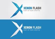 X symbole d'icône de xénon d'une lettre X d'alphabet Image libre de droits
