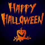 & x27; Szczęśliwy Halloween& x27; literowanie na ciemnym tle Zdjęcia Stock