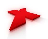 X teken Royalty-vrije Stock Fotografie