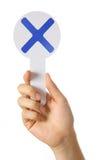X teken Royalty-vrije Stock Afbeeldingen