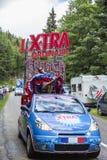 X-TRA Caravan - Ronde van Frankrijk 2014 Stock Afbeeldingen