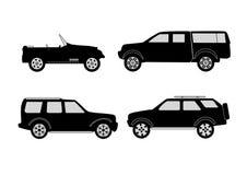 4x4 vehicle set Stock Images