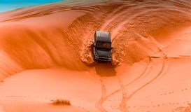 4x4 vehicles and dunes royalty free stock images
