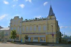 & x27; Venice& x27;餐馆在古老房子里在卡西莫夫市,俄罗斯 库存图片