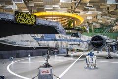 X-vleugel Starfighter bij Terminal 2 Royalty-vrije Stock Foto