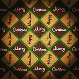 & x27; Vrolijke Kerstmis & Gelukkige Nieuwe Year& x27; uitstekende stijlachtergrond Stock Fotografie