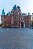 X28 & Waag; ważenia house& x29; po zmierzchu, Amsterdam, holandie Fotografia Stock